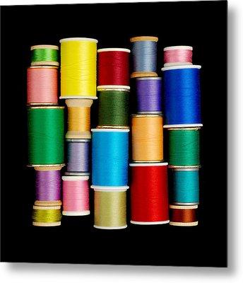 Spools Of Thread Metal Print by Jim Hughes