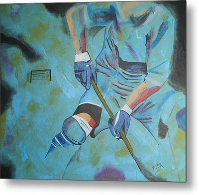 Sports Hockey-2 Metal Print by Vitor Fernandes VIFER