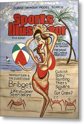 Sports Illustrator Swimsuit Edition Metal Print by Anthony Falbo
