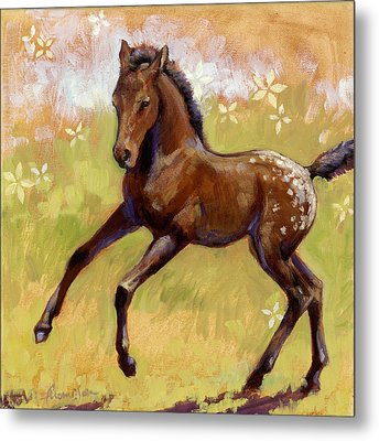 Spots And Flowers Metal Print by Tracie Thompson