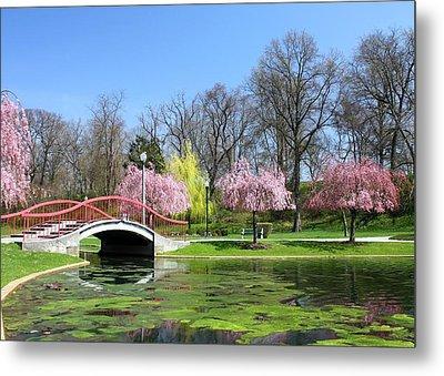 Spring At Italian Lake Metal Print by Lori Deiter