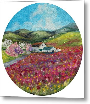 Spring At The Farm Metal Print by Meaghan Troup