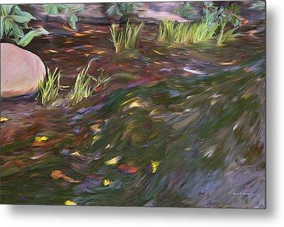 Spring Creek In Oak Canyon Park Metal Print by Angela A Stanton
