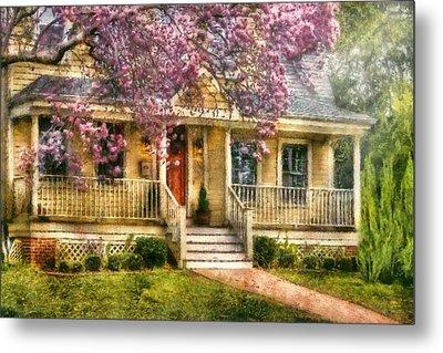Spring - Door - Vacation House Metal Print by Mike Savad