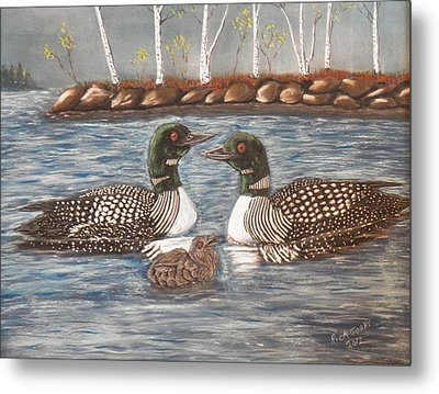 Spring On A Northern Lake Metal Print by Richard Goohs