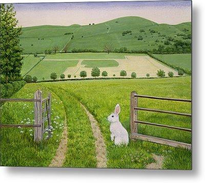 Spring Rabbit Metal Print by Ditz