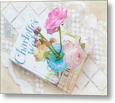 Spring Ranunculus Metal Print by June Marie Sobrito