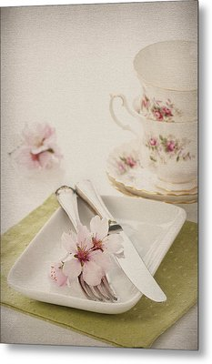 Spring Table Setting Metal Print by Amanda And Christopher Elwell