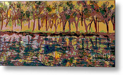 Springtime Along The Muddy River Metal Print by Rita Brown