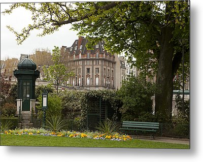 Square Du Vert-galant 2 Metal Print by Art Ferrier