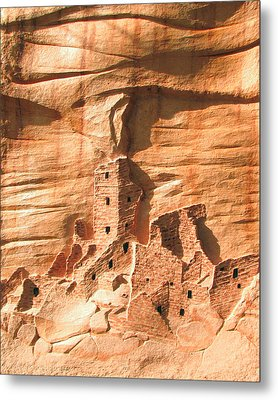 Square Tower House Mesa Verde Metal Print by Carl Bandy