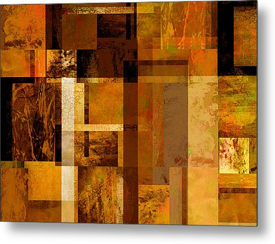 Squares And Rectangles Metal Print by Ann Powell