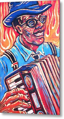 Squeezebox Blues Metal Print by Robert Ponzio