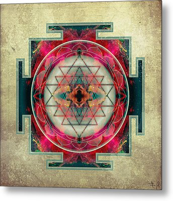 Sri Yantra  Metal Print by Filippo B