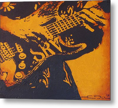 Srv  Number One Fender Stratocaster Metal Print by Eric Dee