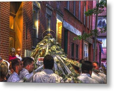 St Anthony's Feast - Boston North End Metal Print by Joann Vitali