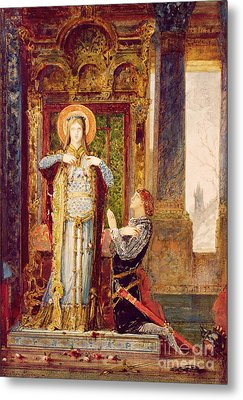 St Elisabeth Of Hungary Or The Miracle Of The Roses Metal Print by Gustave Moreau