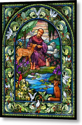 St. Francis Of Assisi Metal Print by Randy Wollenmann