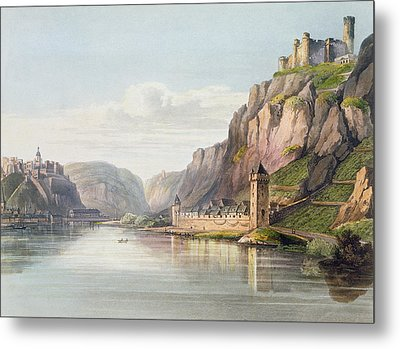 St. Goarshausen, St. Goar Metal Print by Christian Georg II Schutz or Schuz
