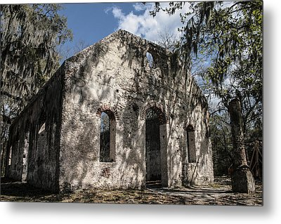 St Helena Chapel Of Ease 2 Metal Print by Steven  Taylor