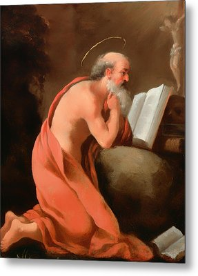 St Jerome In Penitence Metal Print by Mountain Dreams
