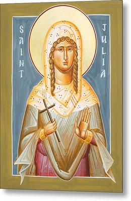 St Julia Of Carthage Metal Print by Julia Bridget Hayes