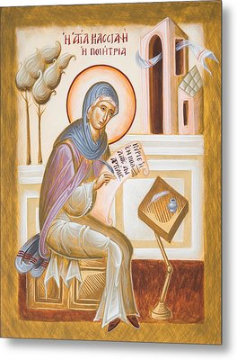 St Kassiani The Hymnographer Metal Print by Julia Bridget Hayes