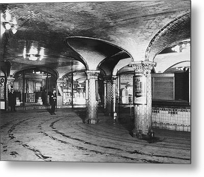 st. Lazare Subway Station Metal Print by Underwood Archives