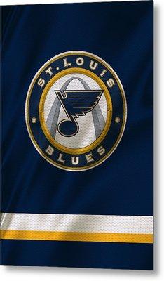 St Louis Blues Uniform Metal Print by Joe Hamilton