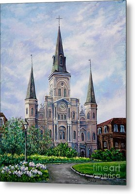 St. Louis Cathedral Metal Print by Dianne Parks