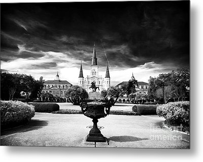 St. Louis Cathedral Metal Print by John Rizzuto