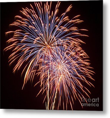 St Louis Fireworks Metal Print by Philip Pound