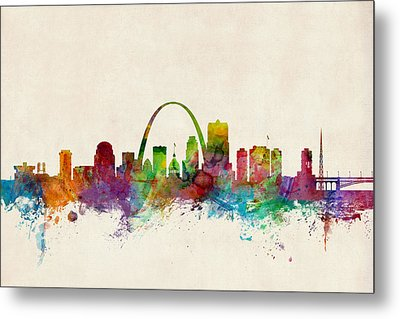 St Louis Missouri Skyline Metal Print by Michael Tompsett