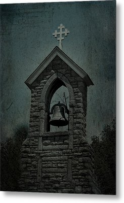 St Mary Magdalene Church Teal Metal Print by Lesa Fine