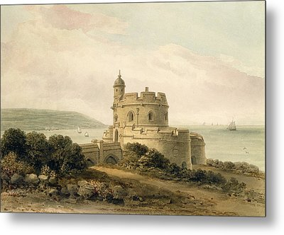 St Mawes Castle Metal Print by John Chessell Buckler