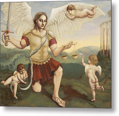 St. Michael The Archangel Metal Print by Shelley Irish