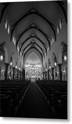 St Patricks Cathedral Fort Worth Metal Print by Joan Carroll