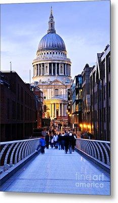 St. Paul's Cathedral London At Dusk Metal Print by Elena Elisseeva