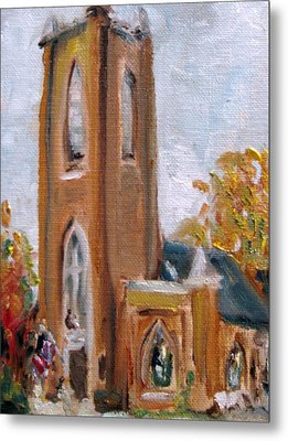St Pauls Episcopal Church Metal Print by Susan E Jones