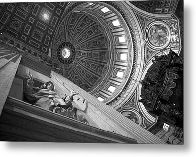 St Peter's Basilica Bw Metal Print by Chevy Fleet