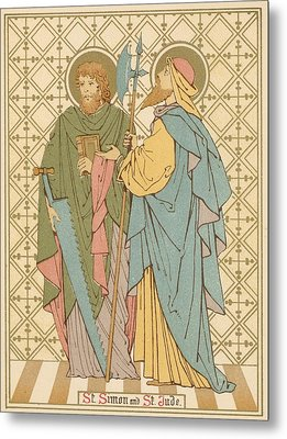 St Simon And St Jude Metal Print by English School