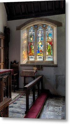 St Tysilio Window  Metal Print by Adrian Evans