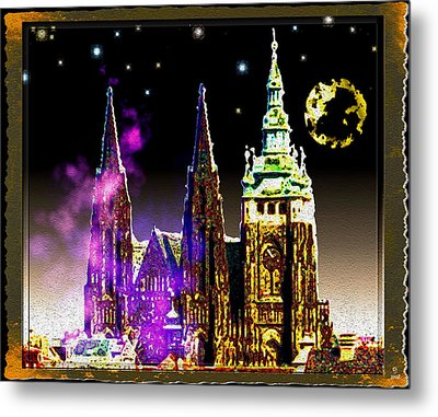 St. Vitus Cathedral Prague Metal Print by Daniel Janda