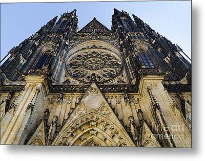 St Vitus Church In Hradcany Prague Metal Print by Jelena Jovanovic