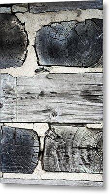 Stacked Block Abstract Metal Print by Barbara McMahon