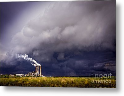 Stacks In The Clouds Metal Print by Marvin Spates