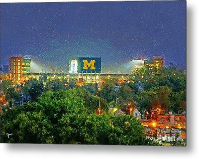 Stadium At Night Metal Print by John Farr