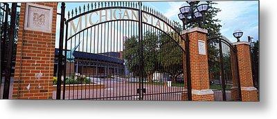Stadium Of A University, Michigan Metal Print by Panoramic Images