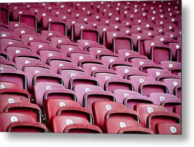 Stadium Seats Metal Print by Frank Gaertner