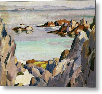 Staffa And Rhum From Iona Metal Print by Francis Campbell Boileau Cadell